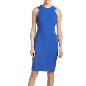 French Connection Whisper sheath cut-out dress
